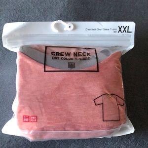 Uniqlo Pink XXL Crew Dry Color Shirt